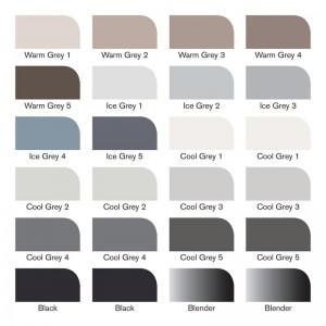 Pennarelli Promarker  Grey And Black 24 pz. - Winsor&Newton