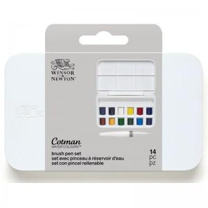 Acquerello Cotman Brush Pen Set - 12 Mezzi Godet - Winsor&Newton