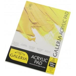 Blocco di Carta Galeria per Acrilico - 15 fogli - 300gr. - Winsor&Newton