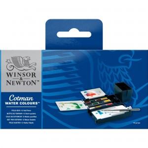 Acquerello Cotman Set Field Box - 12 Mezzi Godet - Winsor&Newton