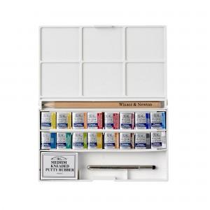 Acquerello Cotman Deluxe Sketchers Pocket Box - 16 Mezzi Godet - Winsor&Newton