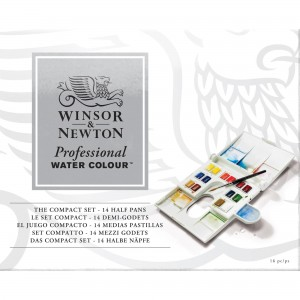 Acquerello Professional Water Colour Set Compact - 14 Mezzi Godet - Winsor&Newton