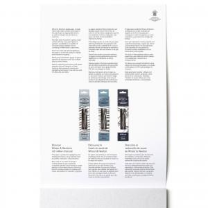 Blocco di Carta per Pastelli 6 Toni Grigi A4 - 160gr. 24 Fogli - Winsor&Newton