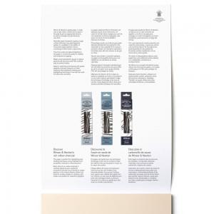 Blocco di Carta per Pastelli 6 Toni Terra A4 - 160gr. 24 Fogli - Winsor&Newton
