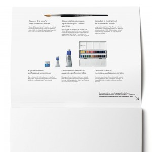 Blocco di Carta per Acquerello Professional Grana Satinata - 300gr. - 20 Fogli - Winsor&Newton